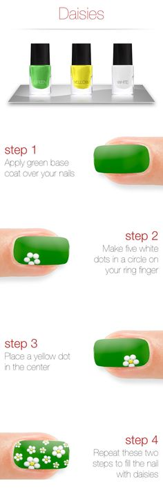 Daisies Nail Art Tutorial