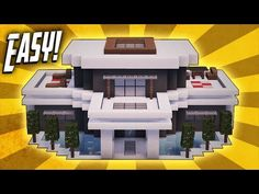 Minecraft: How To Build A Large Modern House Tutorial (#20) - Minecraft Servers View