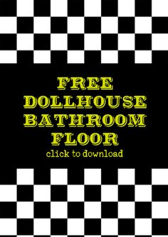 This is a photo of Candid Miniature Dollhouse Printable Floors