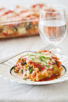 Roasted Vegetable Lasagna Roll Ups FoodBlogs.com