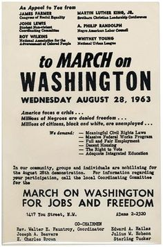 Civil Rights March on Washington 1963 Martin Luther King, Whitney Young, Civil Rights March, 365days, I Have A Dream, Thats The Way, African American History, Black History Month, History Books