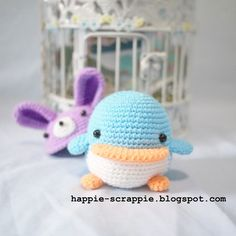 FREE Penguin with Bunny Hat Amigurumi Crochet Pattern and Tutorial