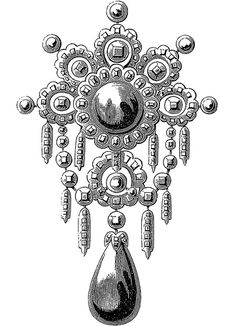 https://flic.kr/p/21TELJ | clipart victorian brooche lrg1 | Free to use in your art, but not for reselling.  compliments of Dover publications.