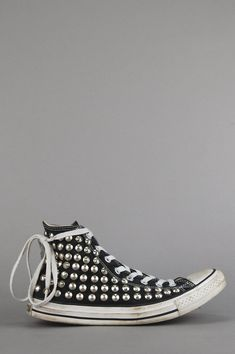 Vintage Distressed Studded Converse High Top Sneakers – One More Chance  Vintage Studded Converse 89f331e88be28