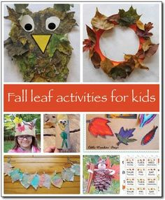 Leaves galore! Check out these awesome fall leaf activities for kids! The coffee filter leaves are my favorite! #fall #leaves || Gift of Curiosity