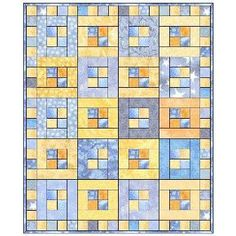 """Four in a Square Quilt Pattern  Makes a quilt approximately 36"""" x 44""""   Quilt Pattern GourmetQuilter patchworkpatternquilt"""