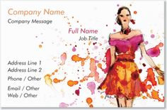 White Woman Standard Business Cards, Bold White Standard Business Cards | Vistaprint