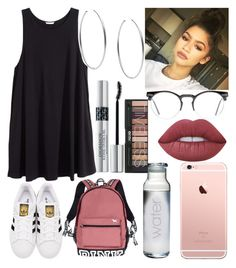 """""""Untitled #313"""" by lovealysah2 ❤ liked on Polyvore featuring H&M, adidas Originals, Victoria's Secret, Spitfire, Lime Crime, Michael Kors and Christian Dior"""