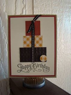 Masculine Cards - This could be done with any color combo!