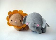 Friendly Grey Ira the Elephant by hybernate on Etsy