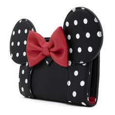 Loungefly X Disney Minnie Mouse Blk/Wht Polka Dot Cosplay Flap Wallet – Loungefly.com