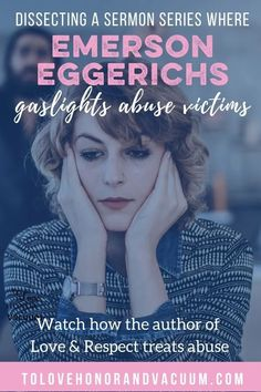 On October 6, 2019, Emerson Eggerichs preached two sermons at Houston's First Baptist Church, where he talked about abuse in an unhealthy way. #gaslighting #abuseinmarriage #emotionalabuse #womenarenotdangerous #thegreatsexrescue #healthybiblicalteachings #healthyintimacy #evangelicalculture #churchculture #eradicateevangelicalculture #healthychristianteachings #poorchristianteachings #deeperissues #tolovehonorandvacuum Sexless Marriage, Biblical Marriage, Marriage Vows, Marriage Advice, Christian Couples, Christian Wife, Christian Marriage, Emotional Abuse
