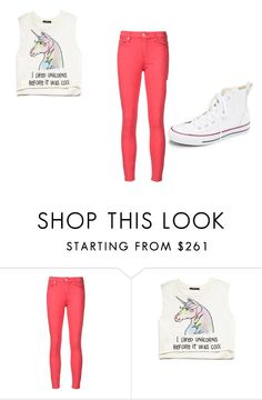 """I LIKED UNICORNS"" by paigebrite on Polyvore featuring 7 For All Mankind, Forever 21, Converse, women's clothing, women, female, woman, misses and juniors"