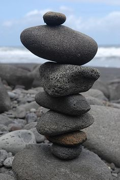 The beautiful simple form of rock scultures I love _ NZ has loads of these
