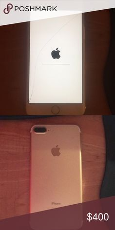 iPhone 7 Plus iPhone 7 Plus rose gold small crack on screen shown factory mode iphone Other