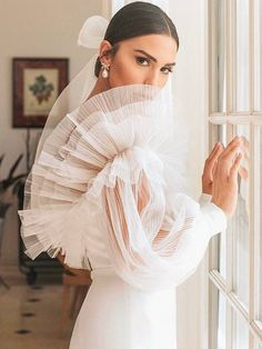 alon livne 2019 bridal real bride illusion long bishop sleeves off shoulder straight across neckline sheath wedding gown sv -- Here Comes the Bride, All Dressed in Alon Livné White White Wedding Dresses, Bridal Dresses, Wedding Dressses, Party Dresses, Sheath Wedding Gown, Vestidos Vintage, Here Comes The Bride, Bridal Style, Dream Wedding