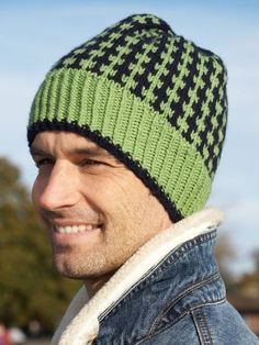 Free knitting pattern for men's hat and more knitting patterns for men