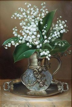 Cheap diamond mosaic, Buy Quality diamond painting lily directly from China mosaic painting Suppliers: New ! Lily of the valley Full Drill Diamond Embroidery Diamond Mosaic fashionThe Paintings of Rhinestone diy Diamond Art Flowers In Jars, Flower Vases, White Flowers, Flower Art, Beautiful Flowers, Flower Table, Pastel Flowers, Art Flowers, Beautiful Things