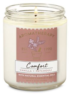 Aromatherapy Vanilla Patchouli Single Wick Candle - Bath And Body Works Essential Oil Candles, Essential Oil Scents, Natural Essential Oils, Perfume Diesel, Bath Body Works, Aromatherapy Candles, Scented Candles, Homemade Candles, Halloween Foods