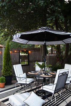 It may be cooling off in some parts of the country it has been in the 70s here the last few days! but I don't think summer has given her swan song.  There is still some heat to go, meaning we'll be relishing the pool a bit longer.  I gave you a glimpse of our outdoor furniture when I shared Milly's birthday, but today I wanted to go into a bit more detail.  Because it really is all about the details… Let's start from the beginning.  Our pool deck is quite spacious in terms of outdoor space…
