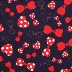 navy blue Cosmo bow ribbon oxford fabric from Japan 1