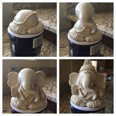 Yesterday we celebrated Ganesh Chaturthi – one of the most important and biggest festivals celebrated in honour of Lord Ganesha (the God with the head of an elephant). I can't wait to s… Lord Ganesha, Clay Ganesha, Ganesha Painting, Ganesha Art, Eco Friendly Ganesha, Ganesh Pooja, Ganpati Decoration Design, Ganesh Chaturthi Decoration, Ganapati Decoration