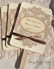 How cute is this.....Lace Country Fans by abbey and izzie designs on Etsy
