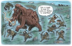 Palaeolthic Dieters by slanecartoons