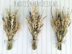 Bridesmaids bouquets - dried bouquets - wheat bouquets - lavender bouquets - dried bridal bouquet - rustic bouquet - country wedding on Etsy, $30.00