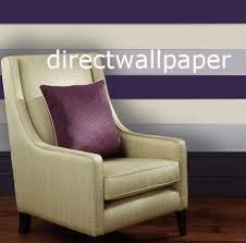 Click image for larger view Wingback Chair, Armchair, Striped Wallpaper, Purple Grey, Accent Chairs, Bedroom Ideas, House, Furniture, Larger