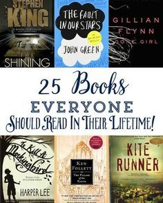 There are many lists like this out there but I have read 22 of the 25 books on the list and it is solid.