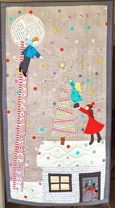 Rainbow Hare Quilts: A Wordless Post - Magical Midwinter Quilt