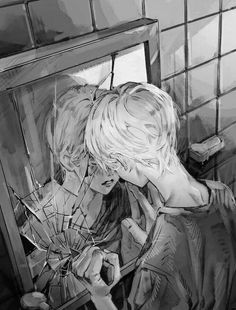Sad Anime Girl, Cute Anime Boy, Manga Art, Manga Anime, Dark Iphone Backgrounds, Dark Anime Guys, Cool Anime Pictures, Arte Obscura, Sad Art