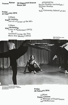 yalegraphicdesign: Yvonne Rainer poster, 2014