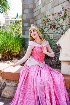 Disney Character Cosplay Sleeping Beauty at the Walt Disney World Resort at the Walt Disney World Resort. Cinderella Cosplay, Disney Cosplay, Disney Costumes, Aurora Disney, Disney Magic, Disney World Characters, Walt Disney World, Disney Poses, Disneyland Princess