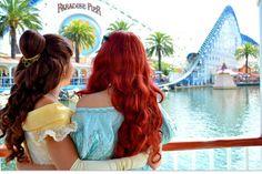 Belle and Ariel in Disneyland