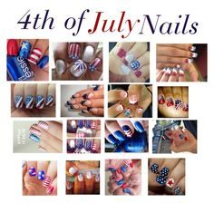 """4th of July nails"" by foreverandalwaysemily22 on Polyvore"