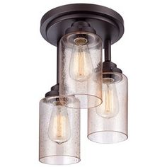"""Libby Collection 9 1/2"""" Wide Oil-Rubbed Bronze Ceiling Light"""