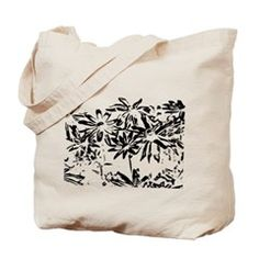 Transparent flowers Tote Bag