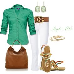 """Button down summer"" by romigr99 on Polyvore"