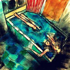 https://losbigdicks.wordpress.com/2016/05/17/esa-gente-no-es-de-fiar-historias-de-banos-de-discotecas-i/ Ilustración de Aneta Comeva