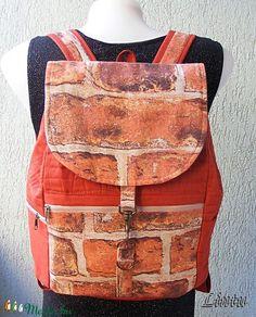 Textil hátizsák tégla mintázatú anyagból (Lintu) - Meska.hu Lany, Fashion, Moda, Fashion Styles, Fashion Illustrations