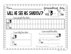 FREEBIE Groundhog Day Graphing