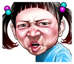 Angry face of children – LINE stickers Funny Angry Face, Angry Anime Face, Dream Catcher Wallpaper Iphone, Funny Face Drawings, Cute Animal Tattoos, I Love You Images, Girl Emoji, Ugly Faces, People Illustration