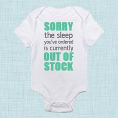Sleep, Funny Baby Clothes, Unique Baby Items, New Baby Gift