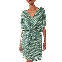 Rayon dress, 'Fern Forest'