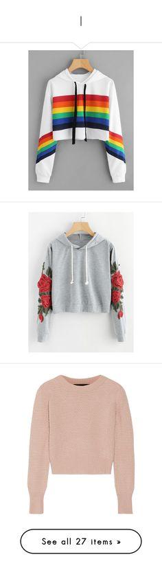 """I"" by lynsay-1 on Polyvore featuring tops, hoodies, multicolor, cropped hoodie, hooded sweatshirt, cropped hooded sweatshirt, pullover hoodies, long sleeve hooded sweatshirt, floral hoodie and long sleeve hoodies"