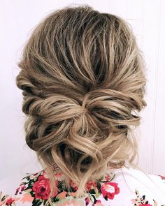 Twisted And Pinned Low Updo For Prom