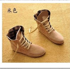 2013 Hot 9 Colors Women Lace Up Winter Boots Flat Ankle Shoes Spring Autumn | eBay $27