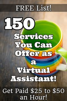 150 Services You Can Offer as a Virtual Assistant!